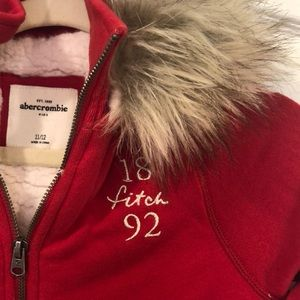 Kids Abercrombie fleece lined sweatshirt